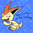 Victini's butt wings