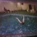 pool hand stand