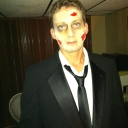All dressed up for the Zombie Prom in Philly.