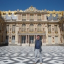 And finally, me fulfilling a life long dream in visiting the Palace of Versailles....=)